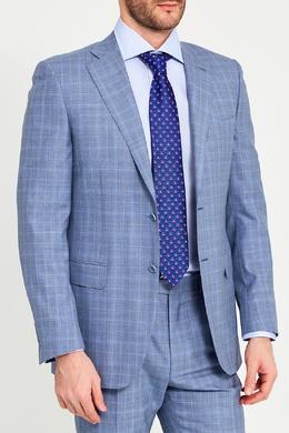 Шелковый галстук с яркими цветами Canali 179374235