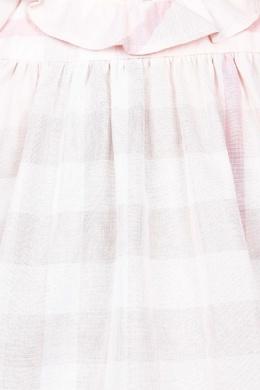 Комплект в розовую клетку Burberry Kids 125379324