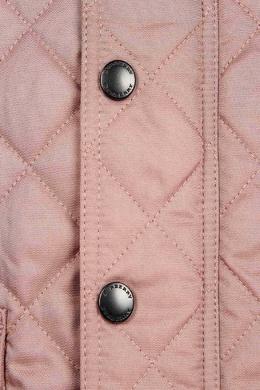 Удлиненная стеганая куртка Burberry Kids 125379360