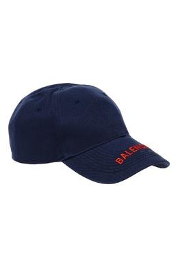 Синяя кепка с контрастным логотипом Balenciaga 39790042