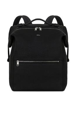 Однотонный кожаный рюкзак Furla 196292084
