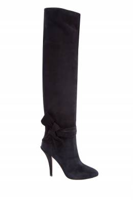 Черные замшевые ботфорты Garavani Valentino 21098479