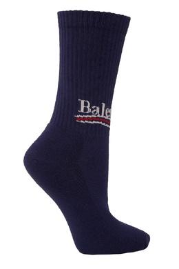 Синие носки с логотипом Balenciaga 39798454