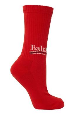 Красные носки с логотипом Balenciaga Man 267398456