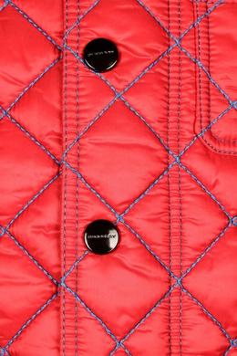 Стеганая куртка с контрастной отделкой Burberry Kids 125395253