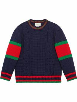 Gucci Kids Children's cable knit wool sweater 512526X1577