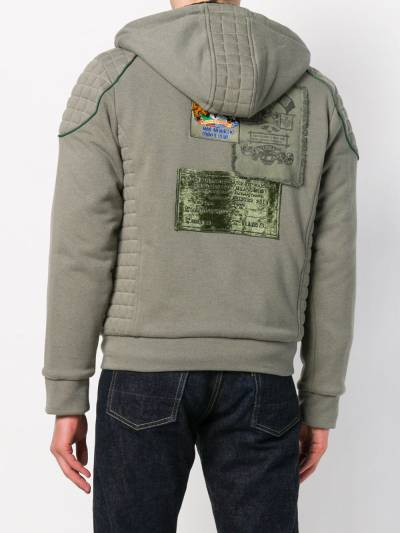 Mr & Mrs Italy patched quilted hoodie SS086E - 4
