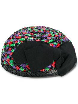 Yves Saint Laurent Pre-Owned плетенная шляпа YVE320A