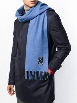 LANVIN - классический шарф с бахромой 39336090600000000000