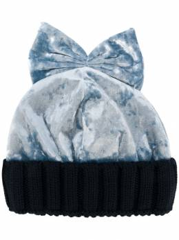 Federica Moretti бархатная шапка с бантом WM8