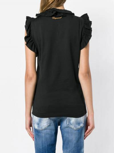 Dsquared2 ruffle-trimmed top S72GD0101S22427 - 4