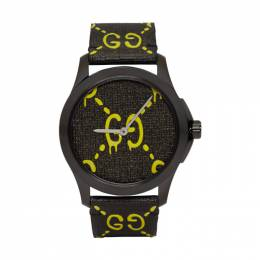 Gucci Black and Yellow G-Timeless GucciGhost Watch YA1264019
