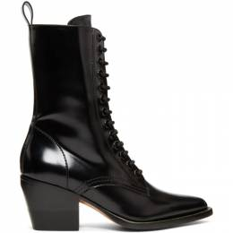 Chloe Black Rylee Medium Boots CHC18A06306