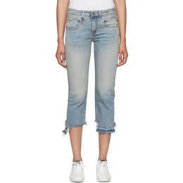 R13 Blue Straight Cropped Boy Jeans R13W0091-672