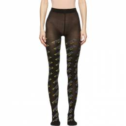 Fendi Black Fendi Mania Tights FXZ528 A66K