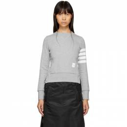 Thom Browne Grey Classic Four Bar Sweatshirt FJT002A-00535