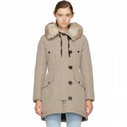 Moncler Taupe Down Arehdel Coat 49868 25 57136