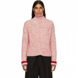 Chloe Red and Off-White Thick Turtleneck CHC18AMP52650