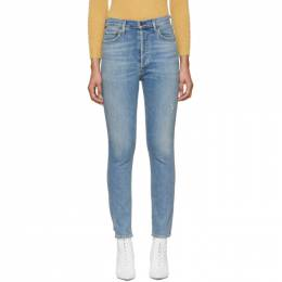 Citizens Of Humanity Blue Olivia High-Rise Slim Ankle Jeans 1728-990