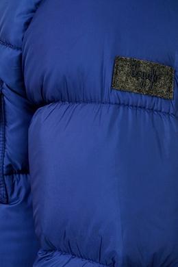 Синяя стеганая куртка с капюшоном Il Gufo 1205102562