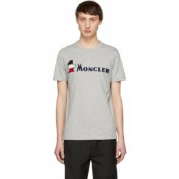 Moncler Grey Maglia Logo T-Shirt 80418 50 8390T 80418 50 8390T