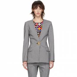 Opening Ceremony Black and White Check Tailored Blazer P19AKL11119