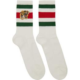 Gucci White Tiger Socks 450039 4G482