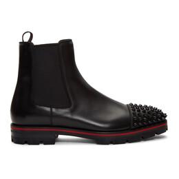 Christian Louboutin Black Melon Spikes Chelsea Boots 3181222