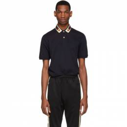 Gucci Navy Feline Head Web Polo 545714 XJAGU