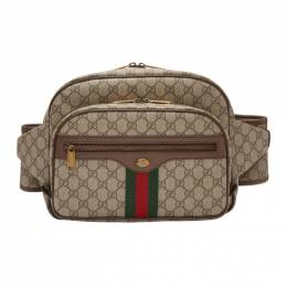 Gucci Brown GG Supreme Ophidia Belt Bag 550648 9VEWT
