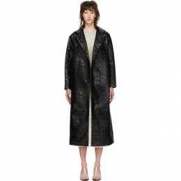 Toteme Black Lacquer Mira Trench Coat 1902-1919