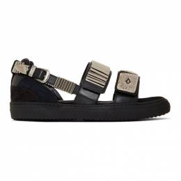 Toga Pulla Black Buckles Flat Sandals FTGPWJ66409099