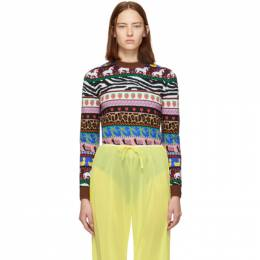 Miu Miu Multicolor Jacquard Patterns Sweater MML185 1PW9