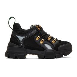 Gucci Black Flashtrek Chunky Sneakers 543289 GGZ80