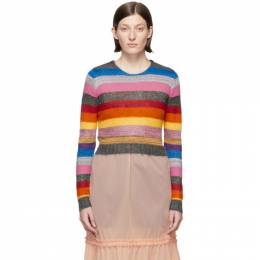 Miu Miu Multicolor Cropped Lurex Rainbow Sweater MML189 1N1G