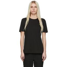 6397 Black Embroidered Leaf Boy T-Shirt NT006LEAF