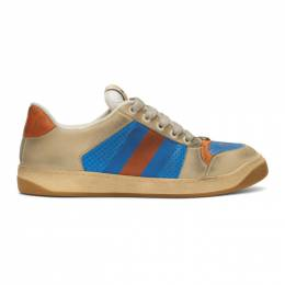 Gucci Blue and Orange Screener Sneakers 546163 0YI20
