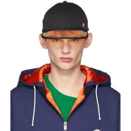 Gucci Black Sun Visor Hat 536889 4HF01