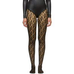 Fendi Black Forever Fendi Tights FXZ528 A39D