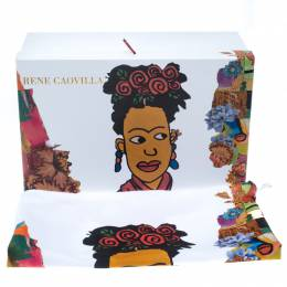 Mahaweb Frida Kahlo Design Limited Edition Shoe Box & Dust Bag for Rene Caovilla