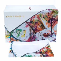 Mahaweb Abstract Design Limited Edition Shoe Box & Dust Bag for Rene Caovilla