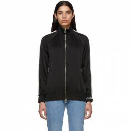 Moncler Black Satin Zip-Up Jacket 57603 00 C0006