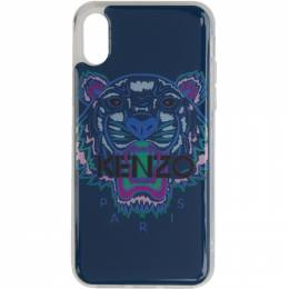 Kenzo Blue and Purple Tiger iPhone X Case 191387M15300901GB