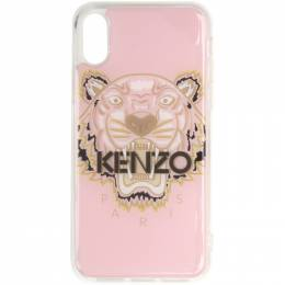 Kenzo Pink and Brown Tiger iPhone X Case 191387M15300801GB