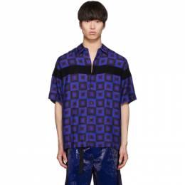 Dries Van Noten Blue Verner Panton Edition Beaded Clasen Shirt CLASEN-EMB 7079