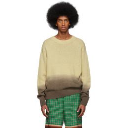 Dries Van Noten Beige and Brown Degrade Nairobi Sweater NAIROBI 7704
