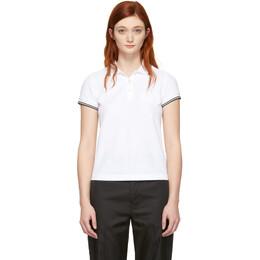 Moncler White Logo Polo 83860 61 V8003