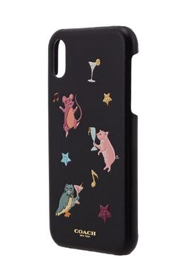 Чехол для iPhone X/XS с веселыми животными Coach 2219109740