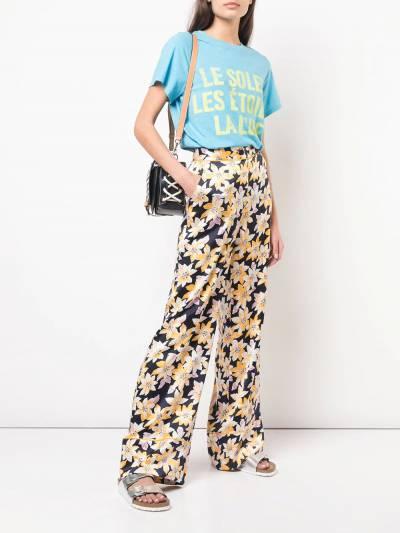Cinq A Sept - широкие брюки с цветочным принтом 690833Z9366850000000 - 2