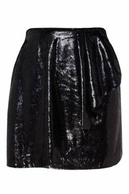 Черная мини-юбка с воланом Mo&co 999114321